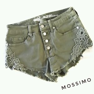 Mossimo High Waisted Green Stretch Denim Size 2/26